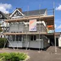 CRBS domestic south west scaffold render windows roofing
